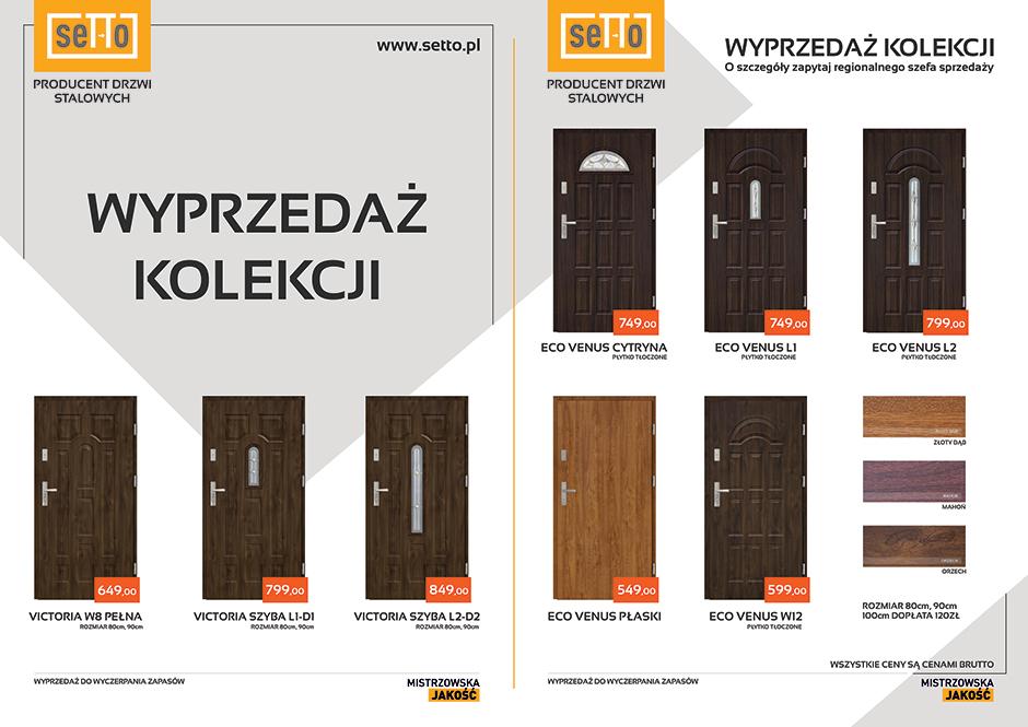 Promocja drzwi zewnętrzne SETTO